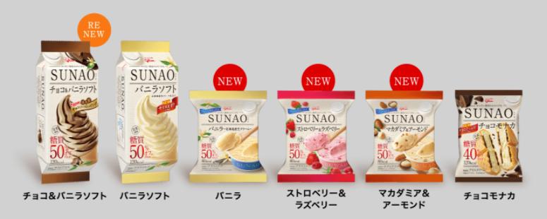 sunaoアイス6種類