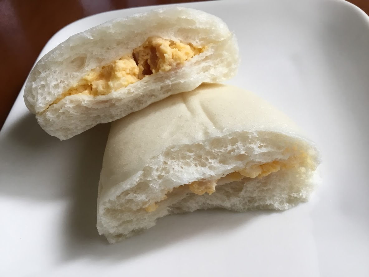 ハムエッグのしっとりパン