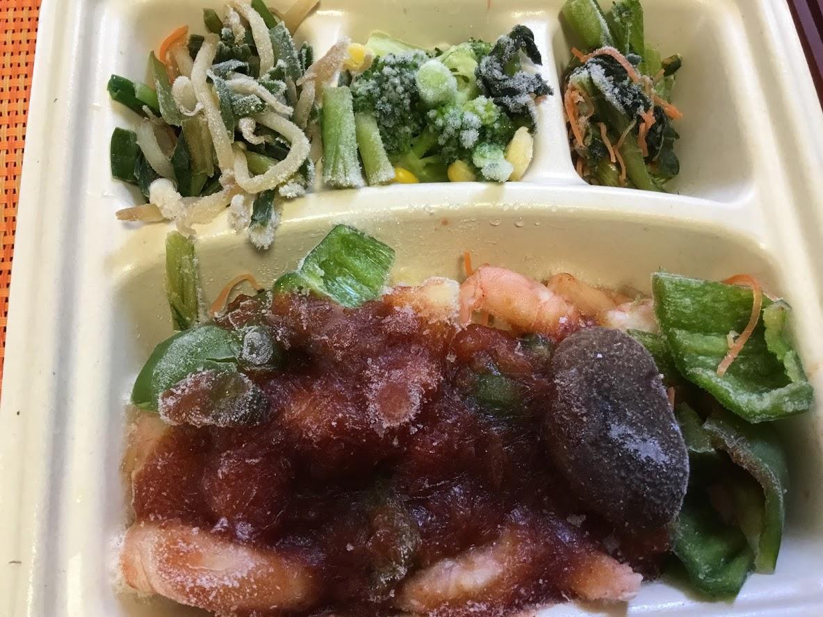 えびのチリソース煮の冷凍弁当nosh