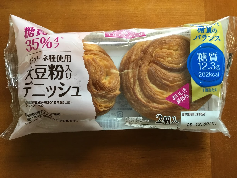 トップバリュ糖質35%オフ パネトーネ種使用 大豆粉入りデニッシュ