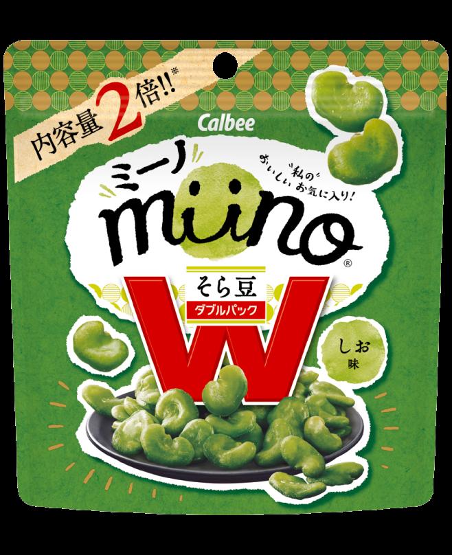ミーノ miino ダブルパック そら豆 しお味  miino W そら豆 しお味 ※セブンイレブン限定販売