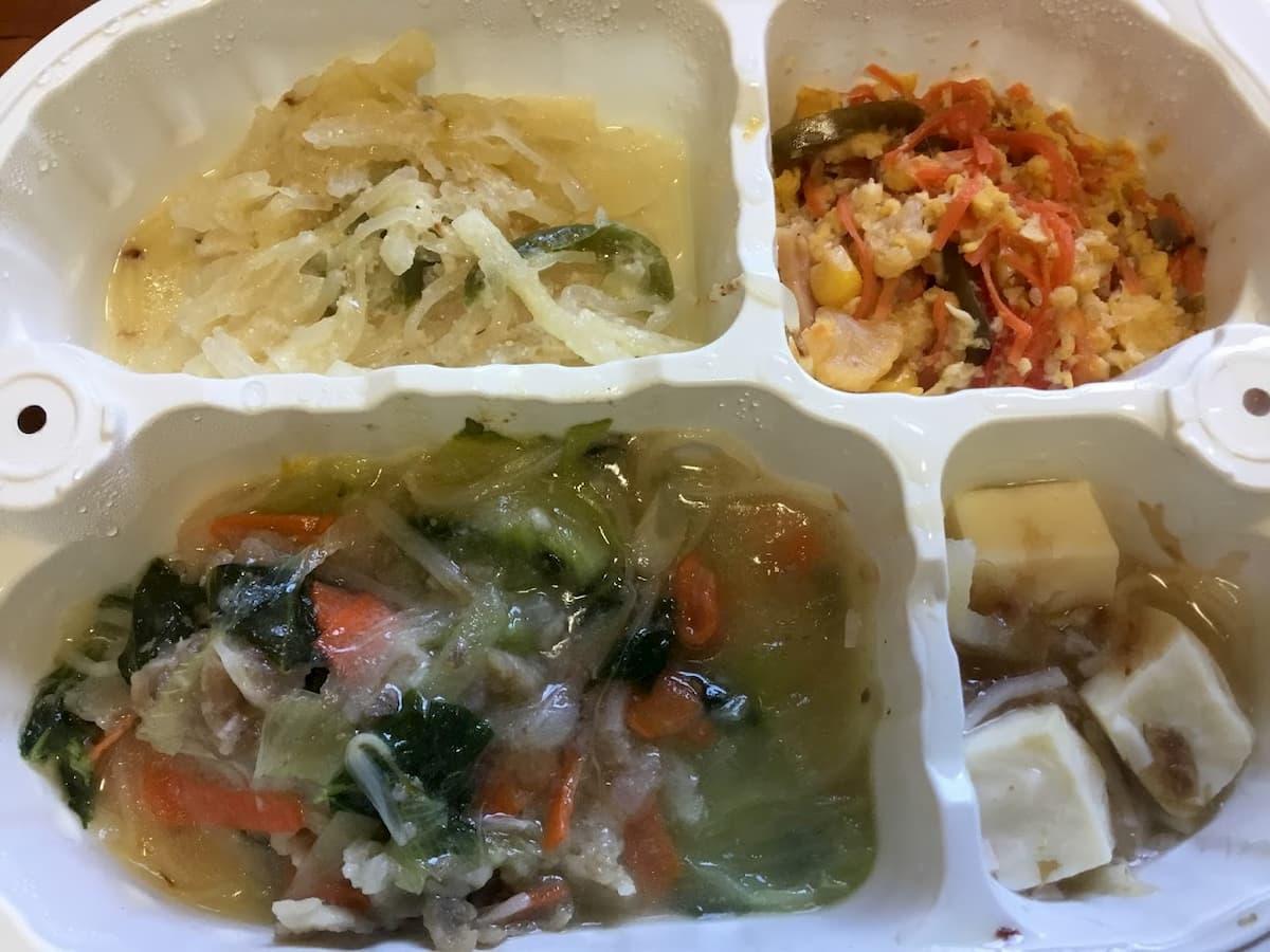 つるかめキッチン豚肉とチンゲン菜の塩ダレ炒め弁当