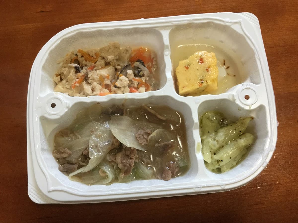 豚肉ときのこの炒り豆腐弁当