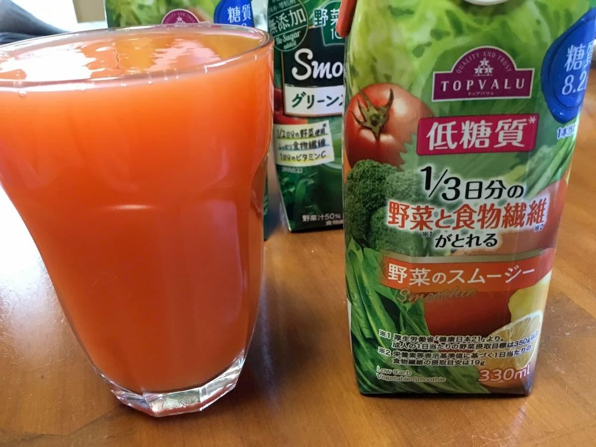トップバリュ 1/3日分の野菜と食物繊維がとれるスムージー