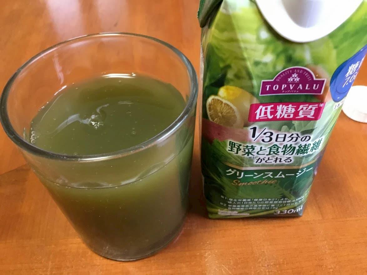 トップバリュ 1/3日分の野菜と食物繊維がとれるスムージーグリーンスムージー