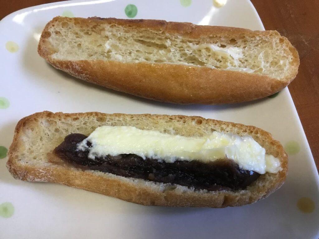 もち麦のあんフランスパン発酵バター入りマーガリン使用